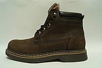 Friendly mod1528 Мужские  зимние ботинки из натуральной кожи на меху Коллекция 2016-2017