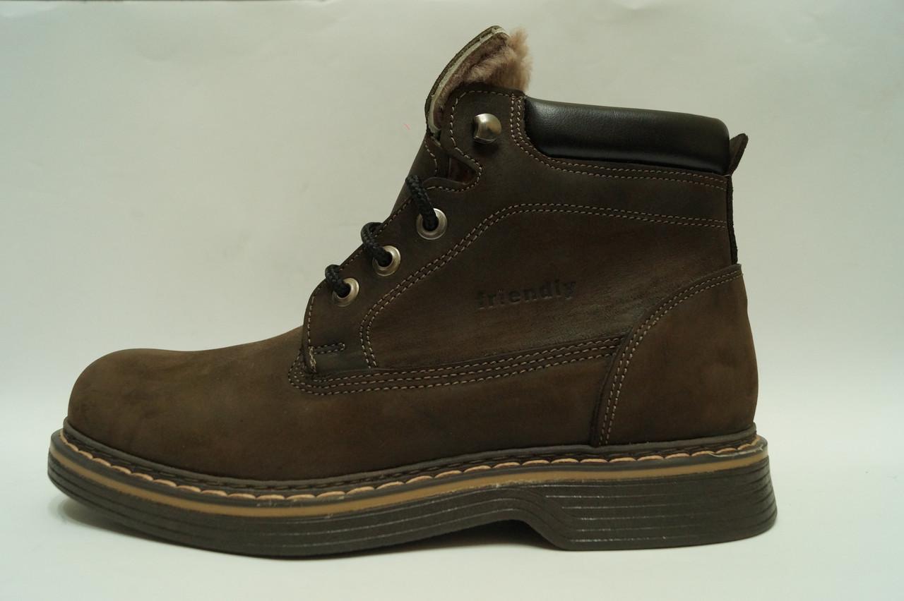 Friendly mod1528 Мужские зимние ботинки из натуральной кожи на меху  Коллекция 2016-2017 - Интернет 9aea7347a28
