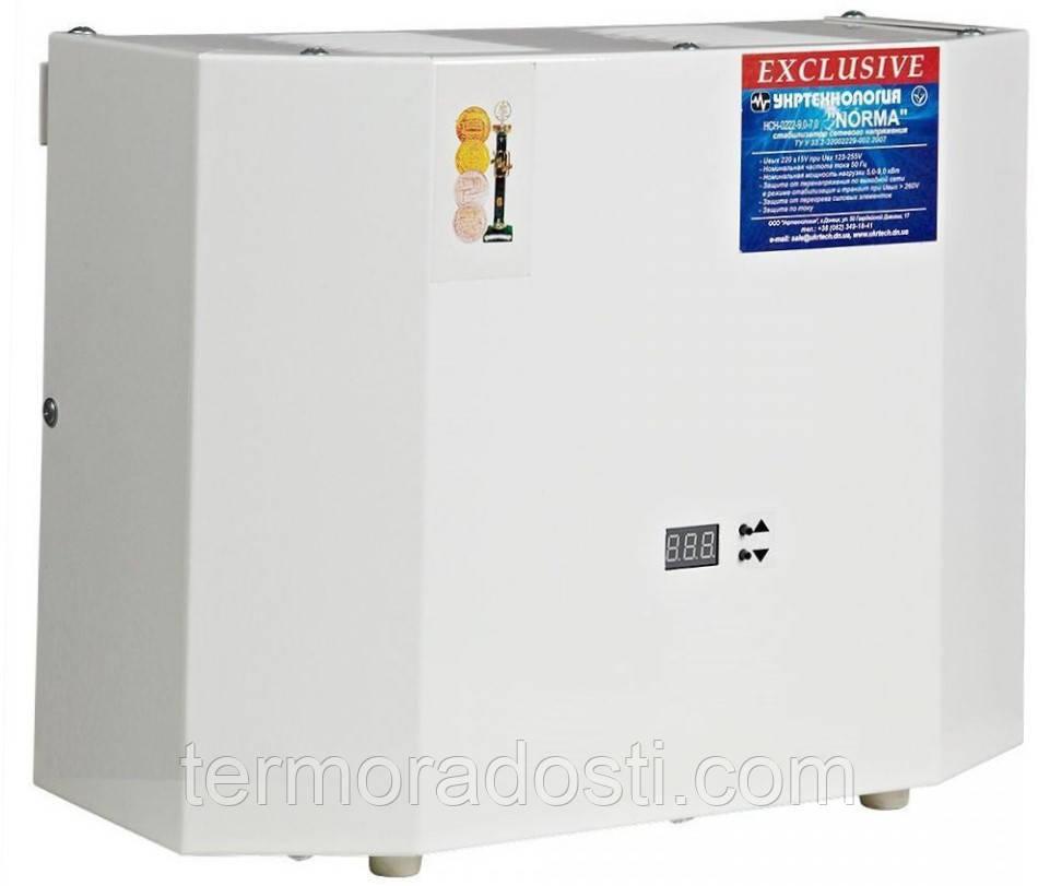 Стабилизатор напряжения Norma Exclusive 15000 Укртехнология (симисторный) для дома