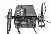 Паяльная станция BAKU BK-852D+ компрессорная, фен, паяльник