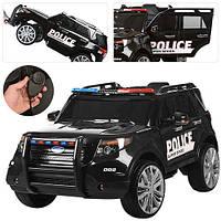 Детский электромобиль Джим M 3259 EBLR-2 POLICE, кожаное сиденье, мягкие колеса и ГРОМКОГОВОРИТЕЛЬ