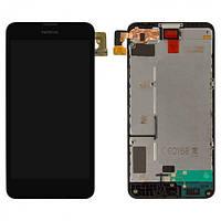 Дисплей (экран) для Nokia Lumia 630 / 635 / 636 / 638 с сенсором (тачскрином) и рамкой Black