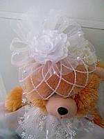 Шляпка-вуалетка детская (белая)