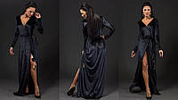 Бархатное макси платье-халат  размер универсальный 42-48