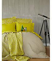 Набор постельного белья + плед Karaca Home 2017-1 - Misto green евро