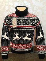 Красивый свитер с оленями для мальчиков 6-8-10-12 лет