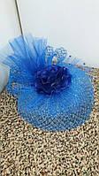 Шляпка-вуалетка детская (синяя)