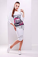 Женское Colourno 19 белый платье Лоя-2Ф д/р