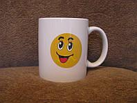 Кружка-чашка хамелеон Смайлик 2