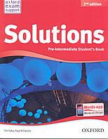 Учебник по английскому языку Solutions Pre-Intermediate 2nd Edition Student's Book