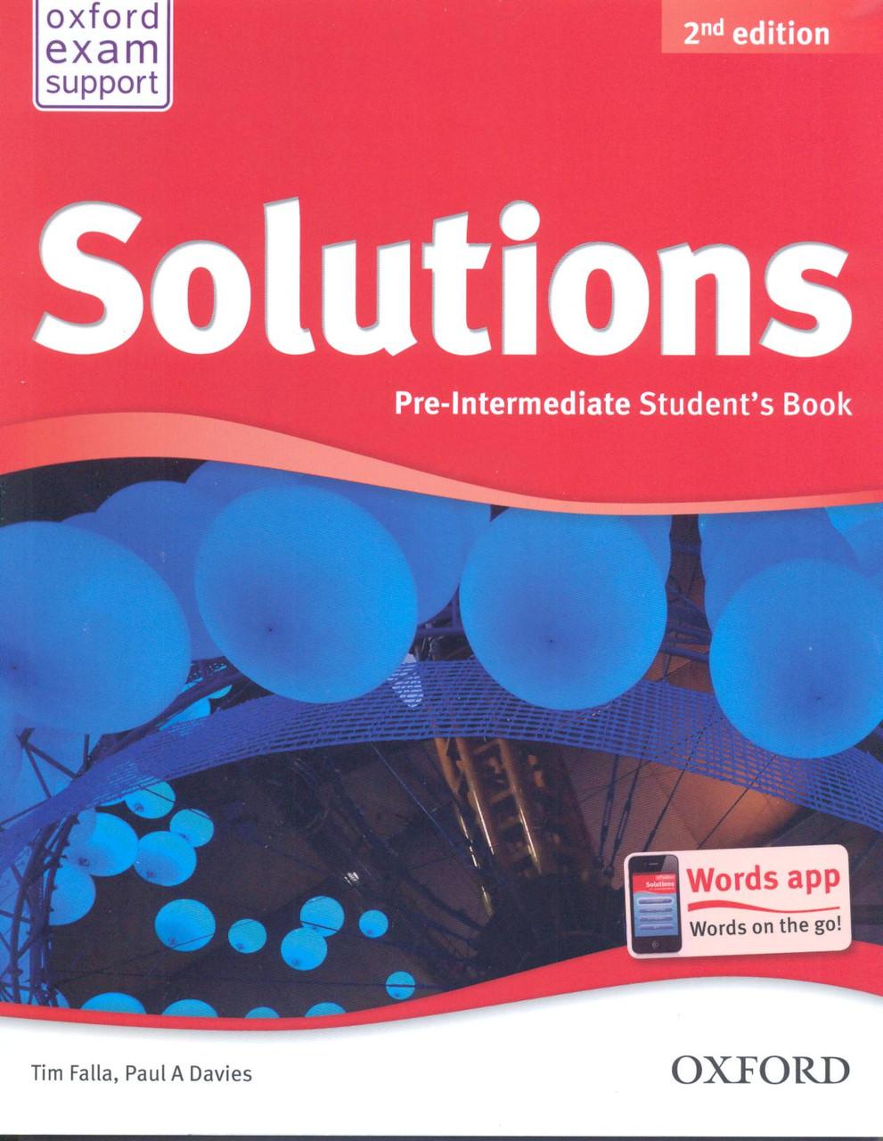 Скачать solutions pre-intermediate student's book.