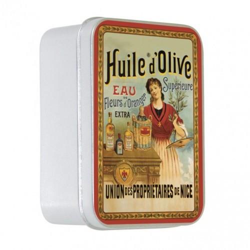 Мыло подарочное Оливковое с маслом 9763 в жестяной упаковке (LeBlanc France) 100гр