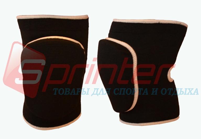 Наколенники волейбольные (полупрофессиональные) чёрные. 745-1