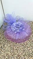 Шляпка-вуалетка детская (фиолетовая)