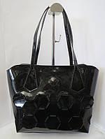 Сумка с перфорацией из натуральной кожи Farfalla Rosso черная  сумка в сумке