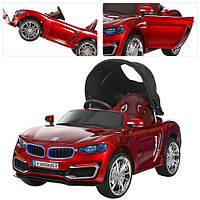Детский электромобиль M 3262 EBLRS-3 BMW, Съемная крыша и кожаное сиденье и автопокраска