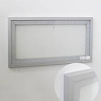 Фасад под стекло в сборе с алюминиевым профилем F 2