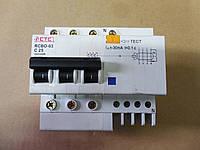 Автомат дифференциальный УЗО CTC RCBO-03 C25 220/380В 4,5кА
