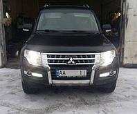 Рестайлинг Mitsubishi Pajero Wagon IV. Были заменены: передний бампер со всеми комплектующими и решетка радиатора.