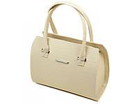 Бежевая женская модельная сумка PD M 50 (новинка весна, осень, лето)