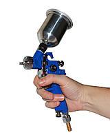 Пистолет покрасочный пневматический HVLP мини , сопло 0,8 мм, верхняя подача, бачок 100 мл.