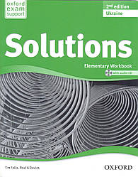 Рабочая тетрадь Solutions Elementary 2nd Edition: WorkBook with CD-ROM