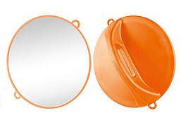 Дзеркало ручне Ø28 см помаранчеве