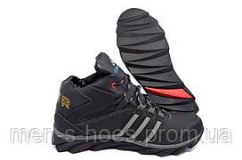 Зимние мужские спортивные ботинки кроссовки Adidas Terrex Black
