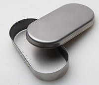 Лоток с крышкой из нержавеющей стали Сталекс для фрез 90х40х15 мм