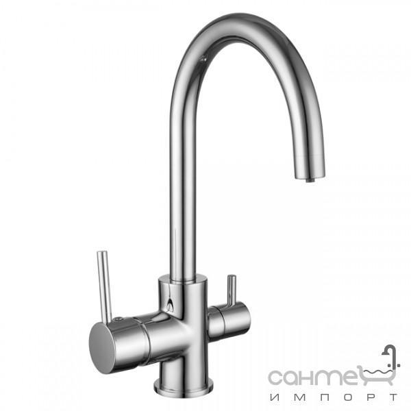 Смесители Imprese Смеситель для кухни с изливом для фильтрованной воды Imprese Daicy-U 55009-U хром