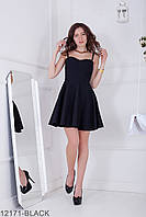 Жіноче чорне коктейльне міні-плаття Iren