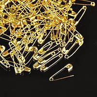 (1700шт) Булавка английская длина - 2см (1700 шт) коробка золотой цвет