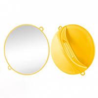 Дзеркало ручне Ø28 см жовте