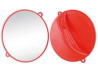 Зеркало ручное Ø28 см красное