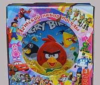 Детский набор посуды Angry birds