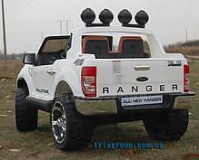 Детский двухместный электромобиль джип Ford Ranger на резиновых колесах, фото 2