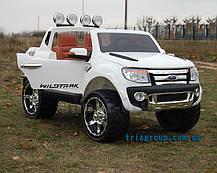 Детский двухместный электромобиль джип Ford Ranger на резиновых колесах, фото 3