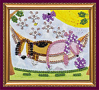 Набор-магнит для вышивки бисером «В гамаке»