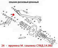 Пружина М. сошника СП6Д.14.002. Пружина М. сошника СП6Д.14.002. Запчасти к сеялкам СПУ, фото 1