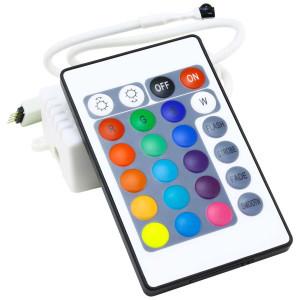 Контроллер 12V RGB для светодиодной ленты 72Вт 6А-инфракрасный-24 кнопки