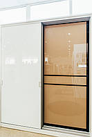 Двери в сборе для шкафов-купе с профилем Квадро