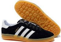 """Кроссовки мужские Adidas Gazelle Indoor Black """"Черные"""" р. 44"""
