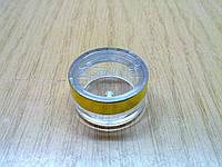Баночка для крема, 5мл с зол.каймой