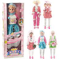 Кукла 63403 А/Е/С/F (6) музыкальная, 6 видов, в коробке