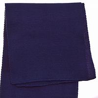 Женский вязаный шарф цвет синий