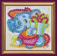 Набор для вышивки бисером «Магнит мини» Слоненок