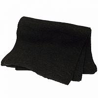 Однотонный женский вязаный шарф цвет темно серый