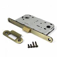 Защелка под ручку и фиксатор для межкомнатных дверей Apecs 5300-P-WC-AB (бронза)