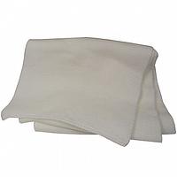Белый вязаный женский шарф