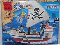 """Конструктор Brick """"Пиратский корабль"""", 188 деталей, фото 1"""